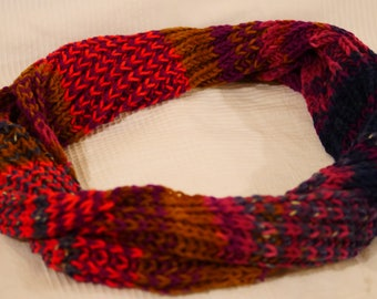 Neon red scarf