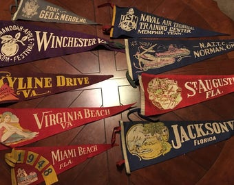 Vintage Pennants from Across the Country