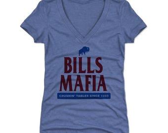 Bills Mafia Women's (V-Neck) T-Shirt | Sports & Buffalo Bills Themed Apparel | Bills Mafia