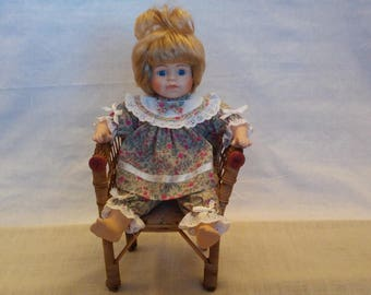 Sitting old doll, doll in the seat, porcelain doll, sitting doll, porcelain doll, promenade collection, doll in the seat, Wonderful  Doll