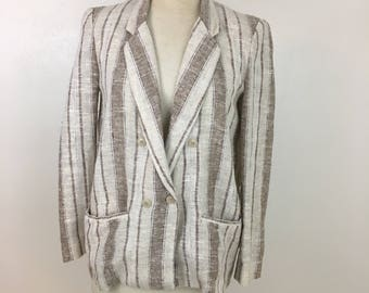 Diane Von Furstenberg Vintage Women's Linen Blazer Size 8