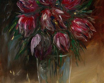 Tulips Still Life Oil Painting