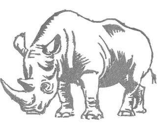 Rhino embroidered design