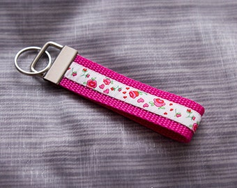 "Keychain ""Pink Roses"" keychain"