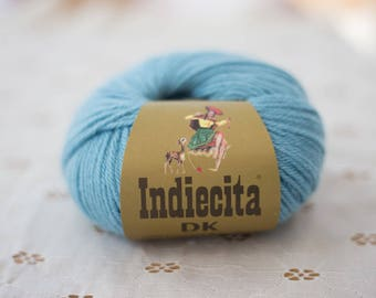 Indiecita 100% Baby Alpaca Yarn -DK- Light Blue