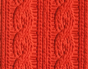Texture sheet Knitted pattern, Flexible polymer texture matt, Polymer Clay Texture Plate, Impression Stamp, knitted Texture Stamp for soap