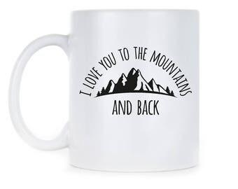 Mountains Mug Gift Mountains Back Cup Mountains Back Mug Mountains Calling Mug Love Mountains Back Mountains Back Gift Mountains Coffee Mug
