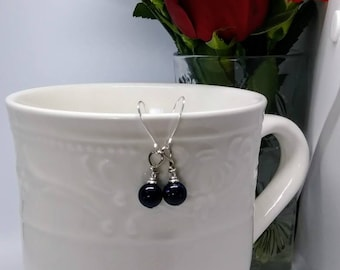 Blue Sandstone Drop Earrings