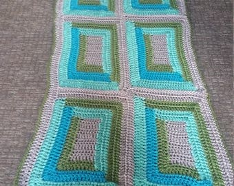 Blue and Gray Standard Blanket (6 squares) Set
