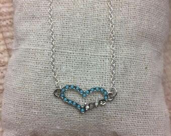Silver heart beaded bracelet