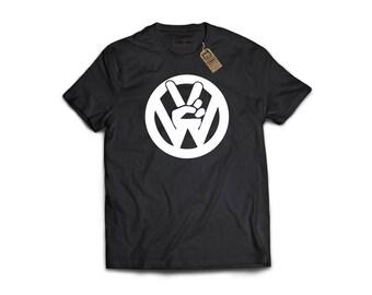 Peace VW - Porsche, Sports Car T-Shirt, Classic Sports Car, Gift For Car Lover, Garage Art, Honda, Nissan, Toyota, VW, Audi, Mazda, BMW