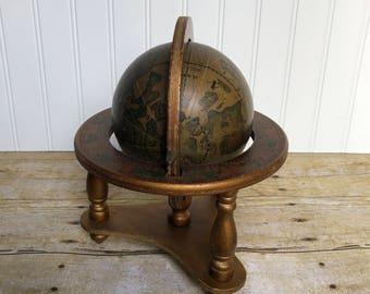 Antique spinning globe / farmhousedecor