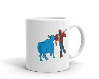 Paul Bunyan/Babe the Blue Ox Native Minnesota Coffee Mug