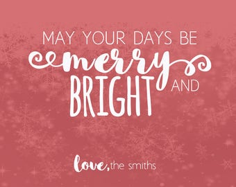 Merry and Bright | Holiday Card