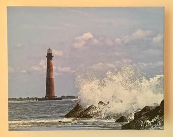 Lighthouse On Canvas Photography 11 x 14