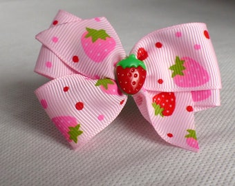Bow pink and green with elastic