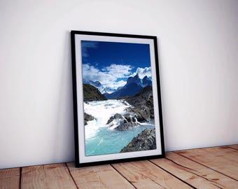 Digital Print - Glacial Waters, Southern Patagonia