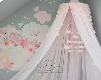 Light Pink Canopy | Kids Baby Canopy | Cot Crib Canopy | Kids Decor Room | & Crib canopy | Etsy