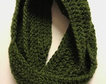 Ready To Ship-Forest Bulky Infinity Scarf