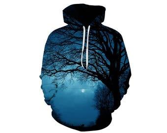 Tree Hoodie, Outdoor Hoodie, Tree Sweatshirt, Nature Hoodie, Art, Hoodie Art, Hoodie Pattern, Pattern Hoodie, Hoodie, 3d Hoodie - Style 12