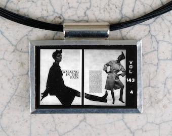 Walking in the Rain Microfiche Necklace - Vogue Magazine 2-15-64