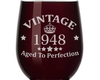Aged To Perfection Stemless Wine Glasses