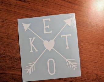 Keto Arrow Vinyl Decal - Ketones | Ketosis