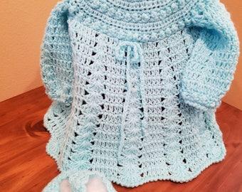 Crochet Baby Dress & Bootties