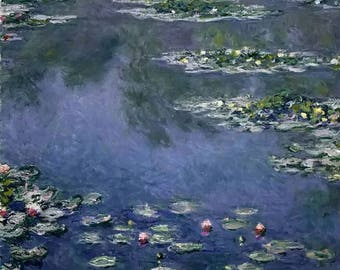 oil painting impressionism custom Claude Monet Water Lilies gift Landscape painting