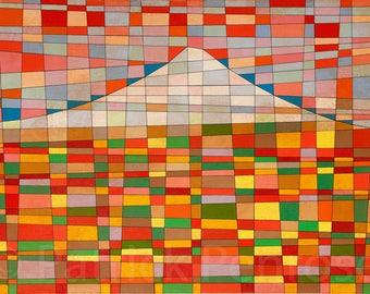 Contemporary Art:  'Mount Fuji in Autumn, Japan'. Colourful High Quality Print Of New Artwork.  Original & Vibrant!