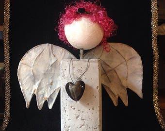 Christmas Angel, guardian angel, Angel, Angel concrete, concrete Angel