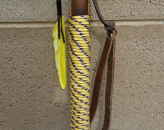"Bamboo Walking Stick - 59"" Paracord Grip"