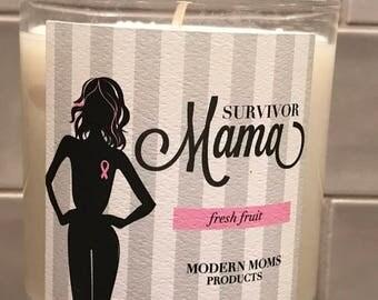 Breast Cancer Survivor Candle