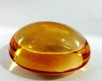 Natural Loose Gemstones Brazilian Citrine Quartz Cabochon Oval 27.65 Carat