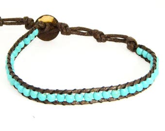 Turquoise Single Wrap Bracelet