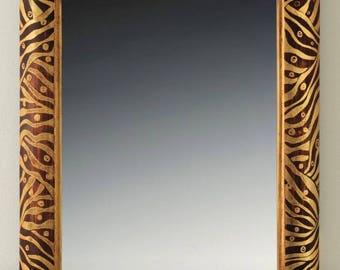 Custom gilded mirror