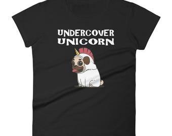 Unicorn shirt - Undercover unicorn - Unicorn costume - Unicorn Gift - Unicorn Tee - Rainbow Unicorn - Undercover Shirt - Unicorn Lovers Gift