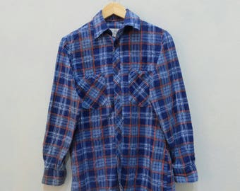 1440 Flannel Shirt MADE IN USSR Rare!! Vintage Cowboy Style