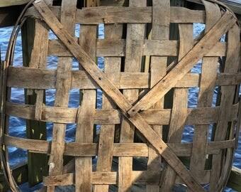 Tobacco Basket, Farmhouse Decor,