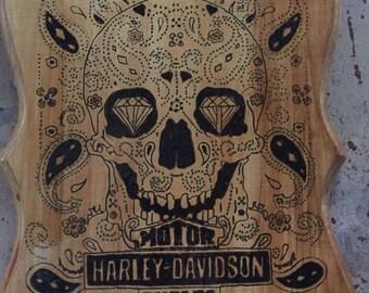 Harley Davidson sugar skull