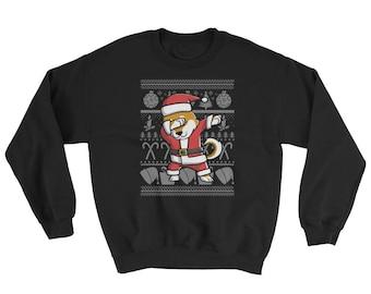Funny Dabbing Shiba Inu Ugly Christmas Sweater Cute Dog Gift
