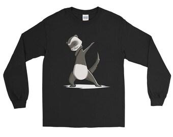 Cute Dabbing Ferret Pet Long Sleeve T-Shirt Funny Dab Dance Gift