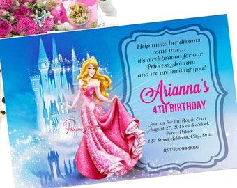 Sleeping Beauty Birthday Invitation, Sleeping Beauty Invite, Sleeping Beauty invitation, Sleeping Beauty, Birthday invitation, Birthday