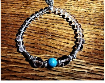 Rock crystal and Turquoise bracelet