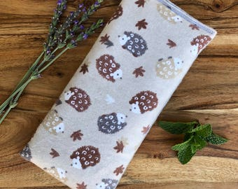 Hedgehog Gift - Hedgehog Accessories - Microwave Heating Bag - Flax Seed Bag - Warming Pillow - Lavender Eye Pillow - Boo Boo Bag - Ice Pack