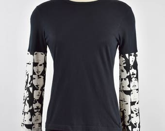 Upcycled Women's Long-Sleeve T-Shirt