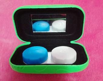 Neon Green Contact Lens Case