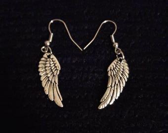 Angel wing earrings!