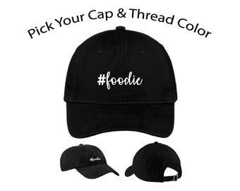 Foodie Dad Cap, Foodie Dad Hat, Dad Cap, Dad Hat, Funny Hat, Cap, Hat, Cap Daddy