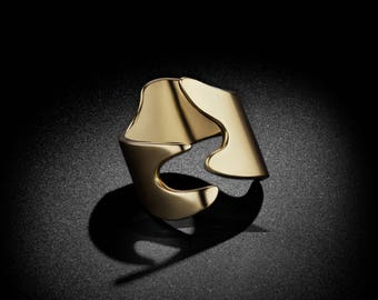 Puzzle Midi/Pinky Gold Ring
